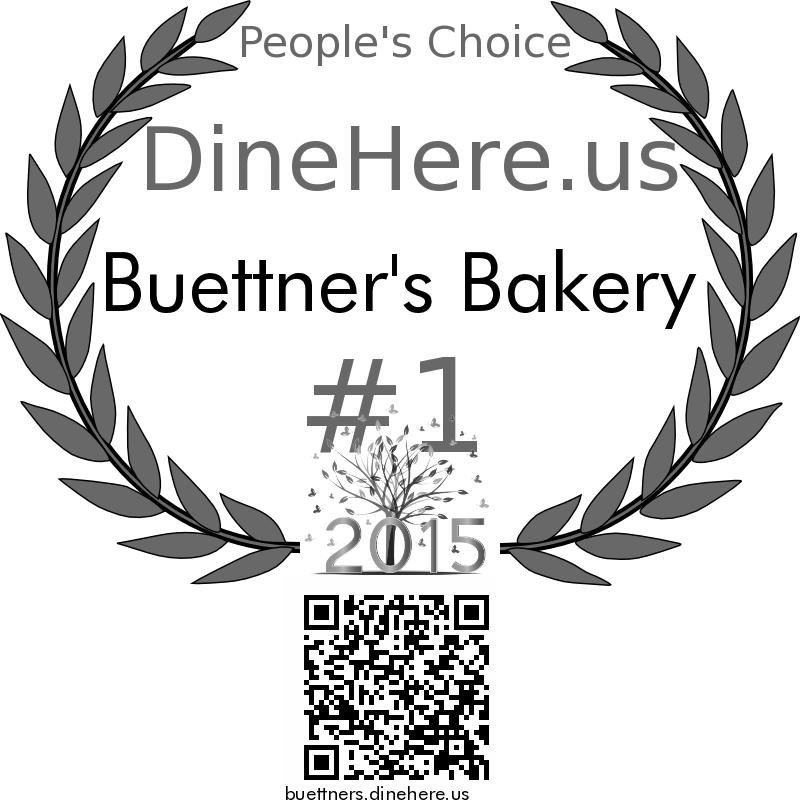Buettner's Bakery DineHere.us 2015 Award Winner
